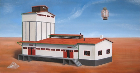 "Cooperative Institute ""Wilhelm Reich"", Oil on Canvas, 90x170cm, Torsten Slama, 2008"